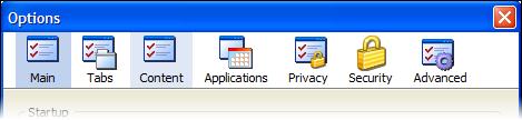 Firefox 3 佈景主題想像圖 - 選項視窗