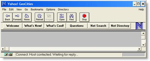 Netscape 瀏覽器畫面