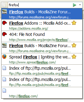 Firefox 3 location bar