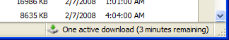 Download status