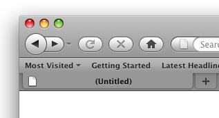 Firefox 3.5 theme on Mac OS X