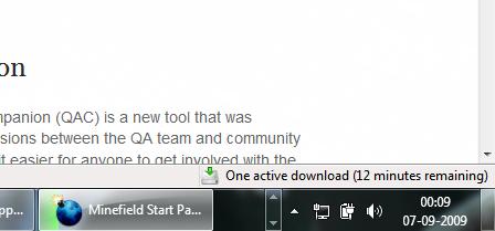 Download status on Firefox taskbar icon