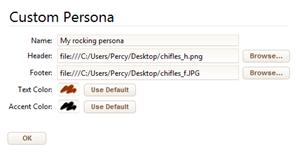 Defining a custom persona
